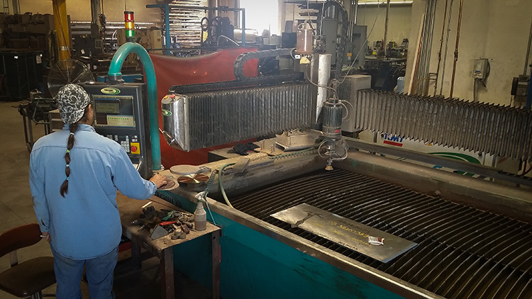 A&N Custom Fabrication offers waterjet cutting.